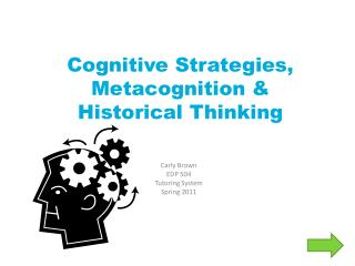Cognitive Strategies, Metacognition & Historical Thinking