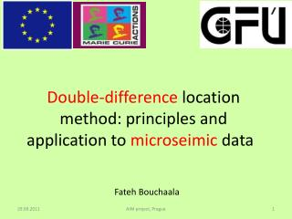 Double-difference  location method: principles and application to  microseimic  data