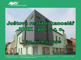 Joštova realitní kancelář JORK spol. s r. o.
