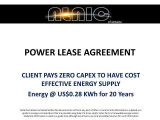 POWER LEASE AGREEMENT