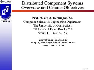 Distributed Component Systems Overview and Course Objectives