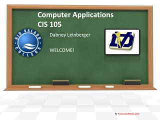 Computer Applications CIS 105