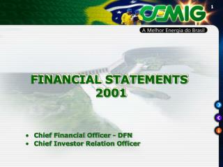 FINANCIAL STATEMENTS  2001