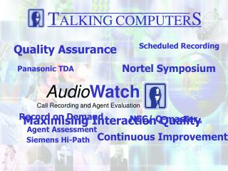 Audio Watch Call Recording and Agent Evaluation