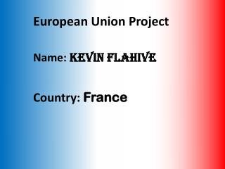 European Union Project  Name:  Kevin  Flahive Country:  France