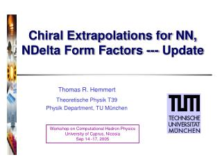 Chiral Extrapolations for NN, NDelta Form Factors --- Update