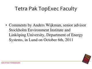 Tetra Pak TopExec Faculty