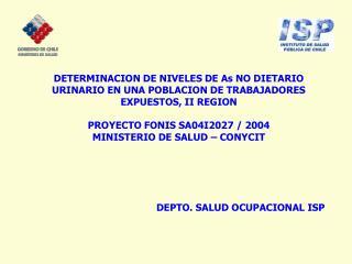 EXPOSICIÓN AL ARSÉNICO INORGANICO (As In) Exposición poblacional