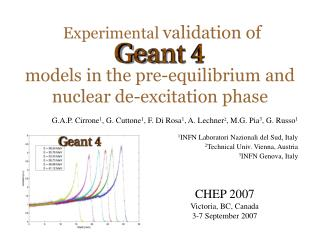 Experimental  validation of  models in the pre-equilibrium and nuclear de-excitation phase