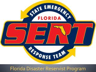 Florida Disaster Reservist Program