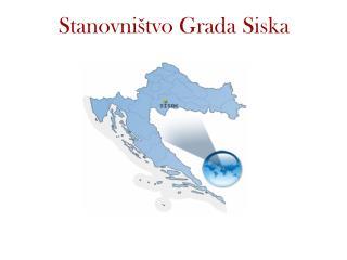 Stanovništvo Grada Siska