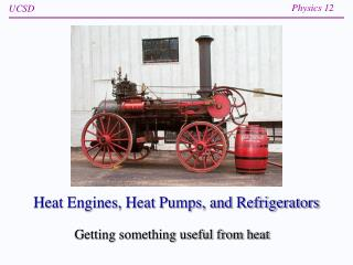 Heat Engines, Heat Pumps, and Refrigerators