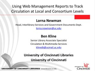 Using Web Management Reports to Track Circulation at Local and Consortium Levels