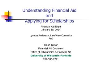 Understanding Financial Aid and Applying for Scholarships