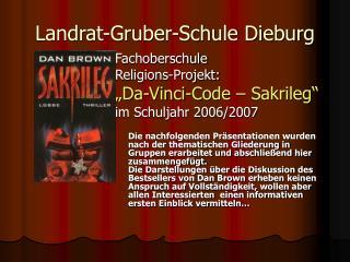 Landrat-Gruber-Schule Dieburg
