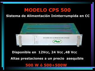MODELO CPS 500