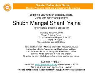 Shubh Mangal Shanti Yajna