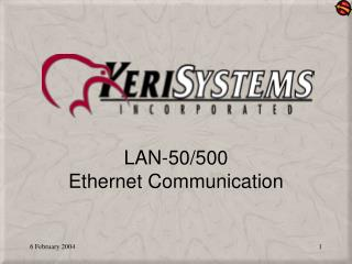 LAN-50/500  Ethernet Communication
