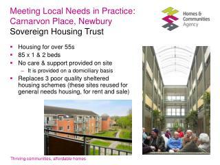 Meeting Local Needs in Practice : Carnarvon Place, Newbury Sovereign Housing Trust
