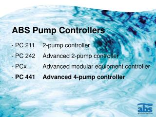 ABS Pump Controllers