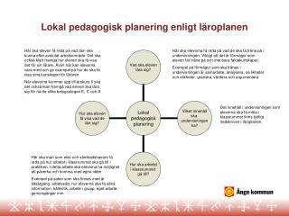 Lokal pedagogisk planering enligt l roplanen