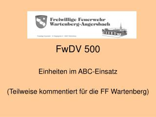 FwDV 500