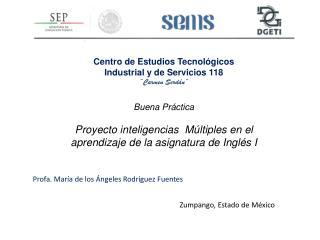 """Centro de Estudios Tecnológicos  Industrial y de Servicios 118 """"Carmen Serdán"""""""