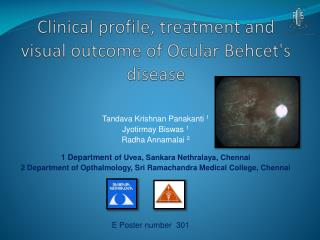 Clinical profile, treatment and visual outcome of Ocular  Behcet's  disease