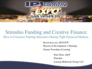 Stimulus Funding and Creative Finance