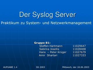 Der Syslog Server