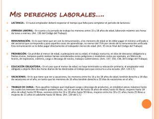 Mis derechos laborales…..