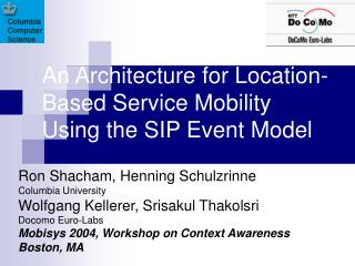 An Architecture for Location-Based Service Mobility Using the SIP Event Model