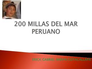 200 MILLAS DEL MAR PERUANO