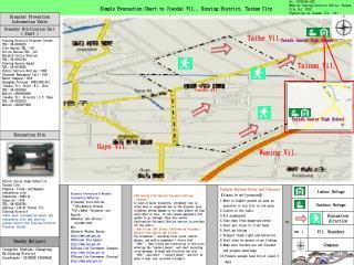 Simple Evacuation Chart to Jiaodai Vil., Sinying District, Tainan City