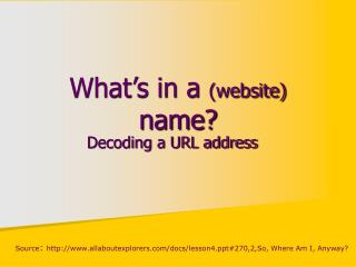 What's in a  (website)  name?