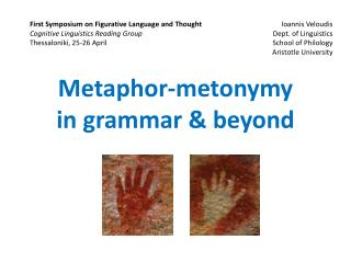 Metaphor-metonymy in grammar & beyond