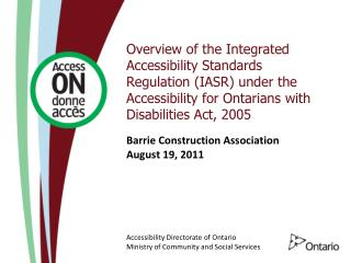 Barrie Construction Association August 19, 2011