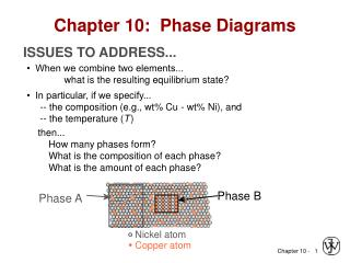 Chapter 10:  Phase Diagrams