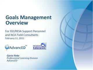 Goals Management Overview