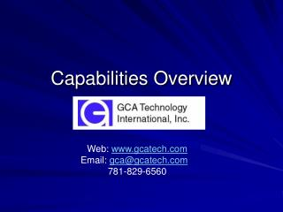 Capabilities Overview
