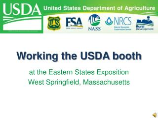 Working the USDA booth