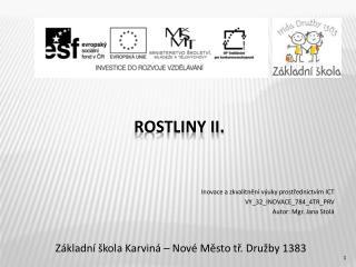Rostliny II.