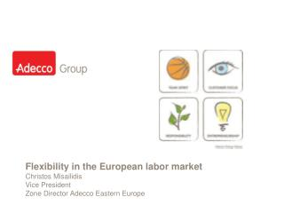 Flexibility in the European labor market Christos Misailidis Vice President