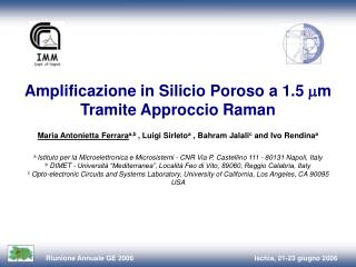 Amplificazione in Silicio Poroso a 1.5   m  Tramite Approccio Raman