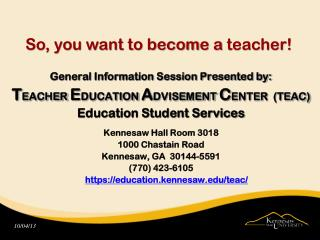 So, you want to become a  teacher!