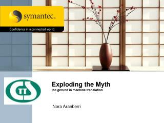 Exploding the Myth the gerund in machine translation