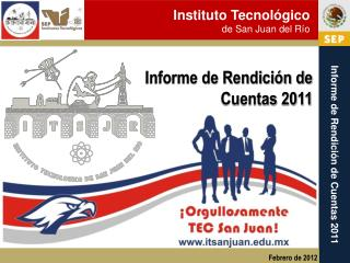Informe de Rendición de Cuentas 2011