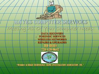 HAYES COMPUTER SERVICES Meeting All Of Your Computer Needs!