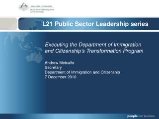 L21 Public Sector Leadership series