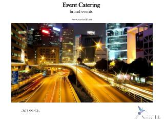 Event Catering brand events servicelife.ru